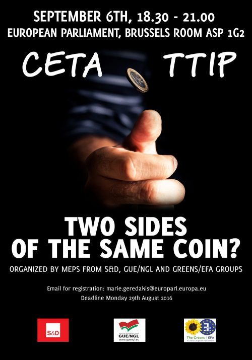 Ceta Ttip two sides of the same coin